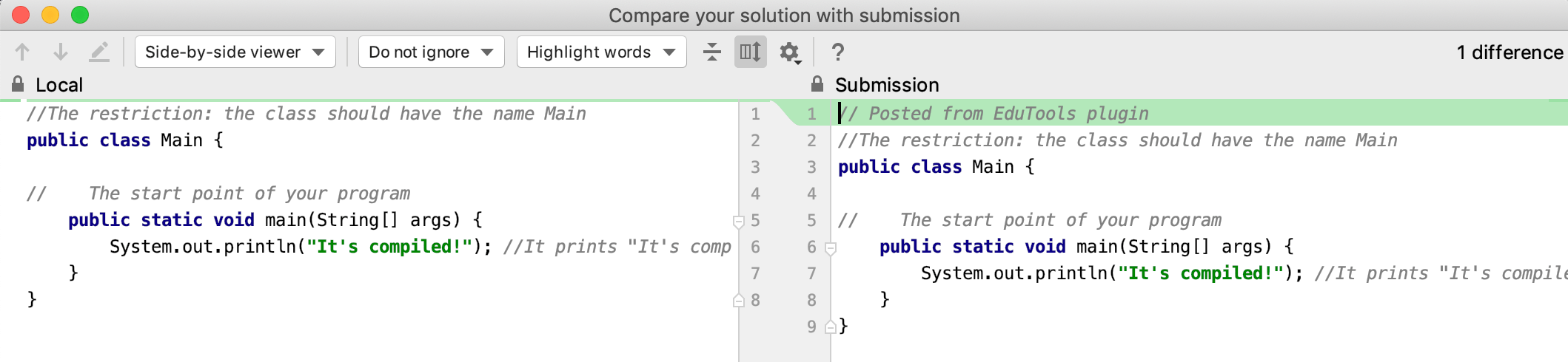 edu submissions diff java intro