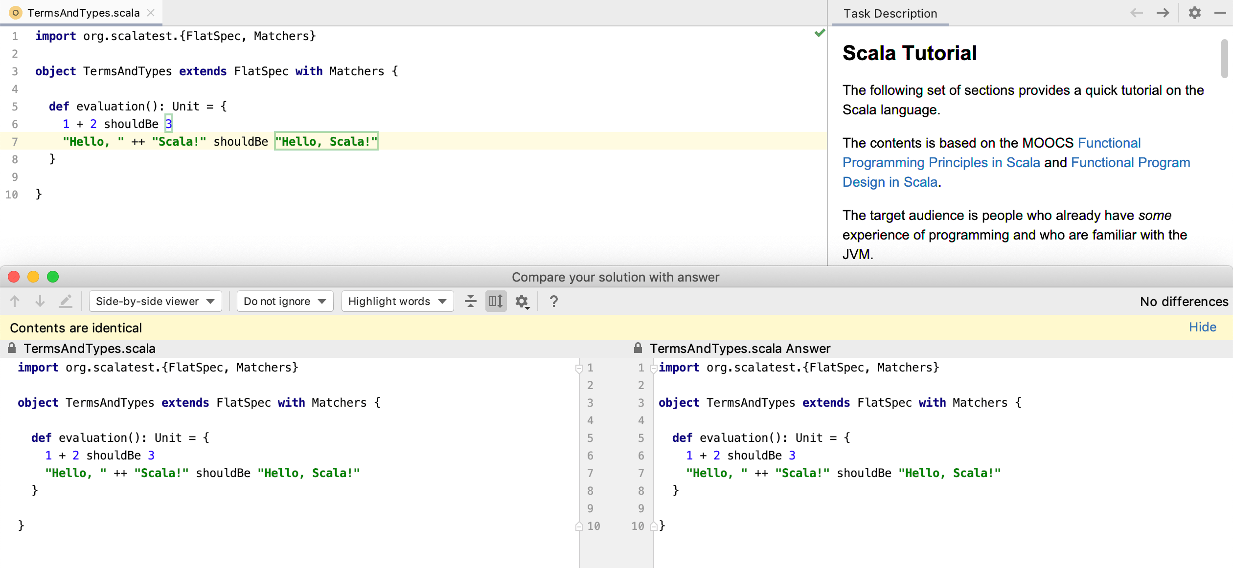edu task compare scala tutorial
