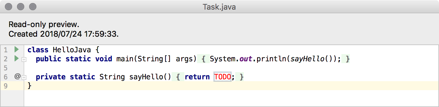 edu task preview java