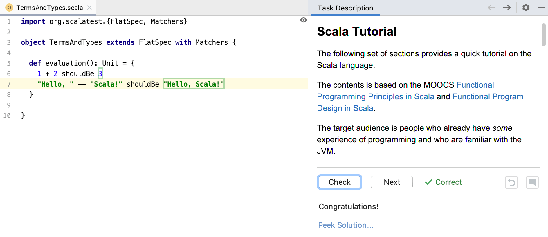 edu task solved scala tutorial