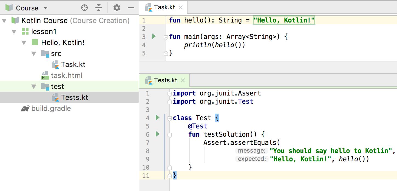 edu test code kotlin
