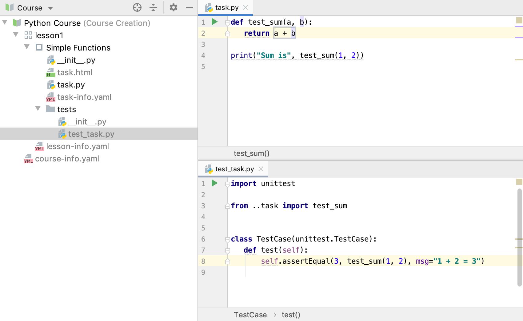 edu test code python