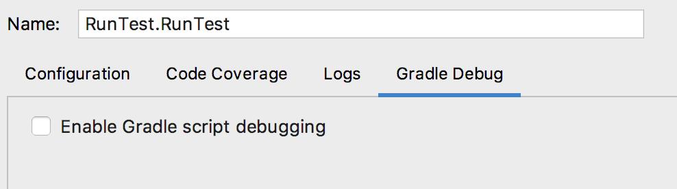 Enable Gradle script debugging