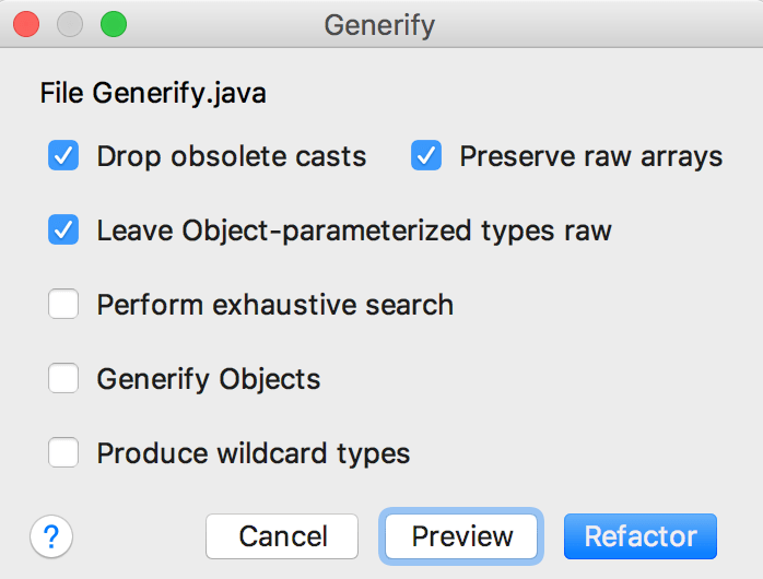 generify code