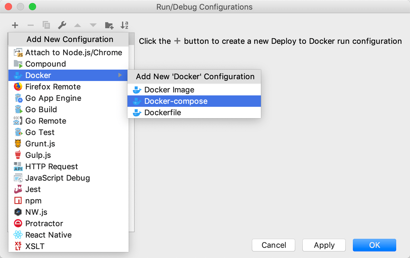 The Docker-compose configuration
