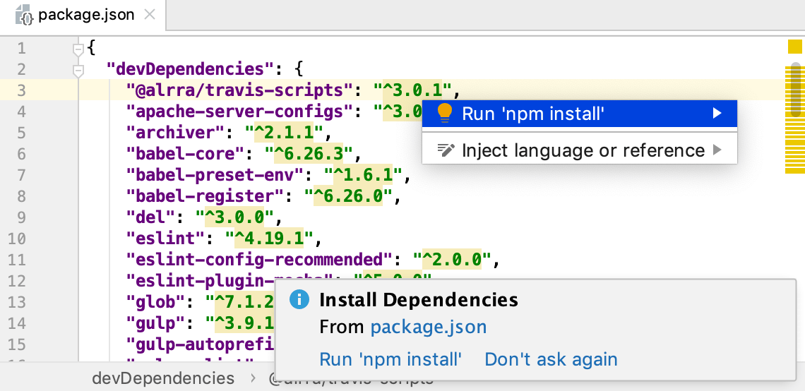 Install dependencies for the HTML5 Boilerplate project