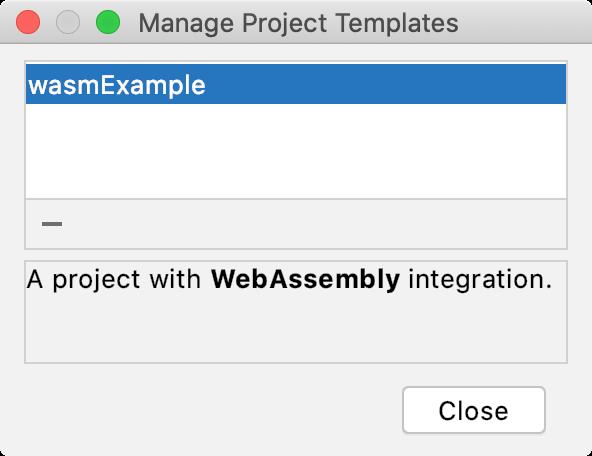 Delete project templates