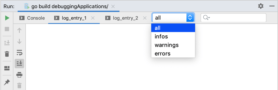 Filter for log messages