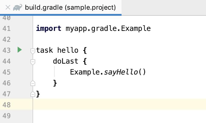 gradle main build file
