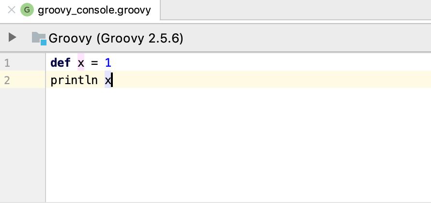 groovy editor console