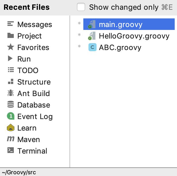 Recent Files