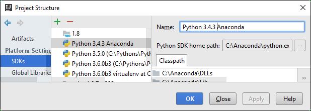 ij change interpreter name