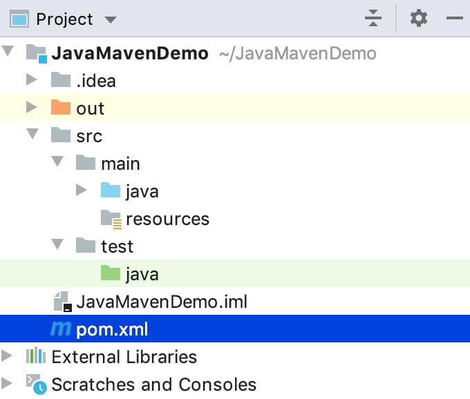 Maven project view