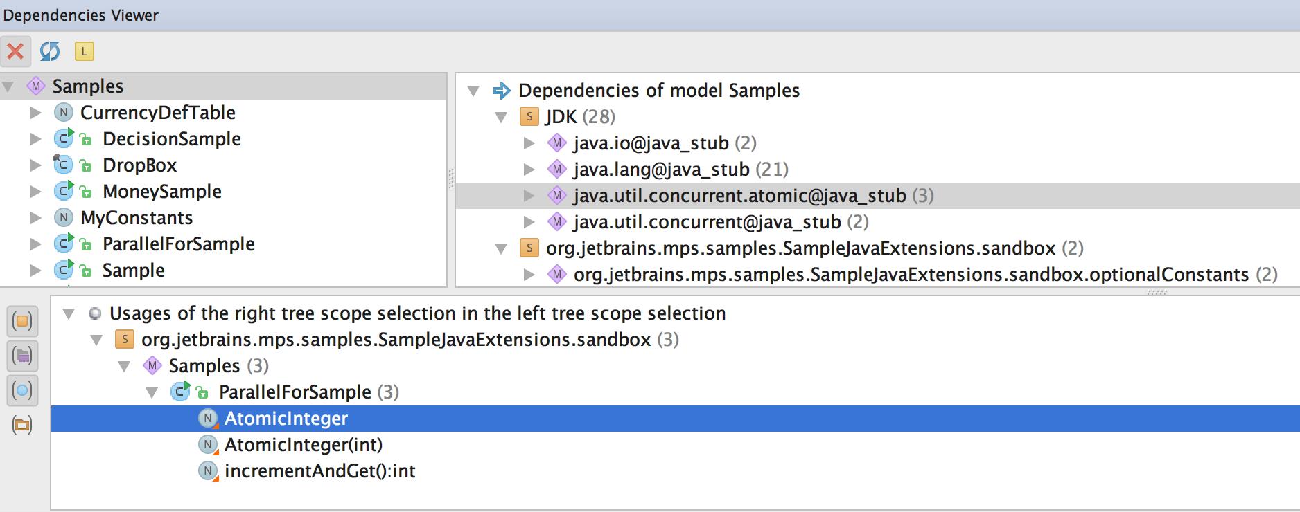 Dependencies Analyzer tool windowu