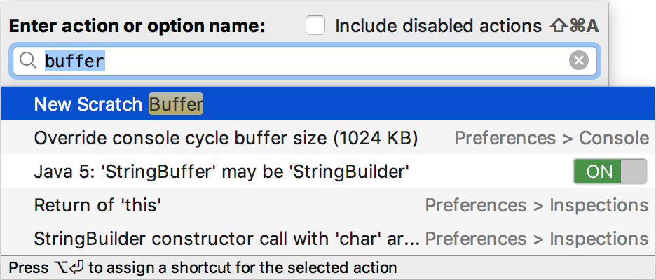 The New Scratch Buffer action