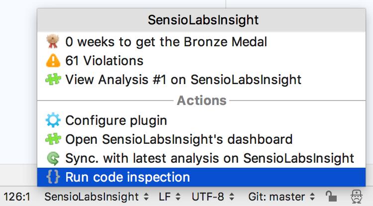 SensioLabsInsight bottom panel