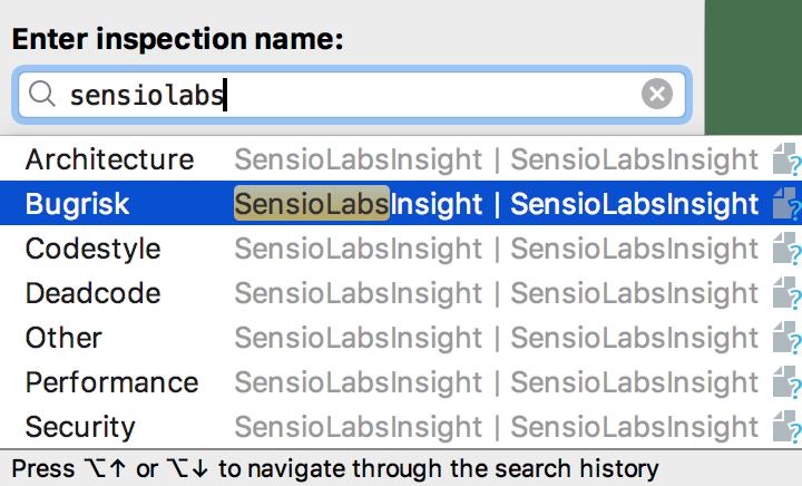 Run SensioLabsInsight inspection