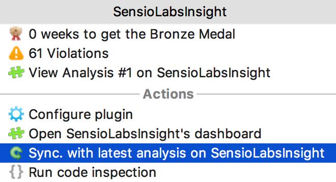 SensioLabsInsight sync