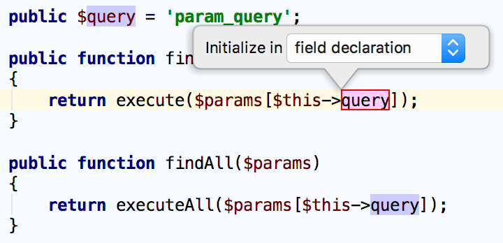 Extract and initialize field