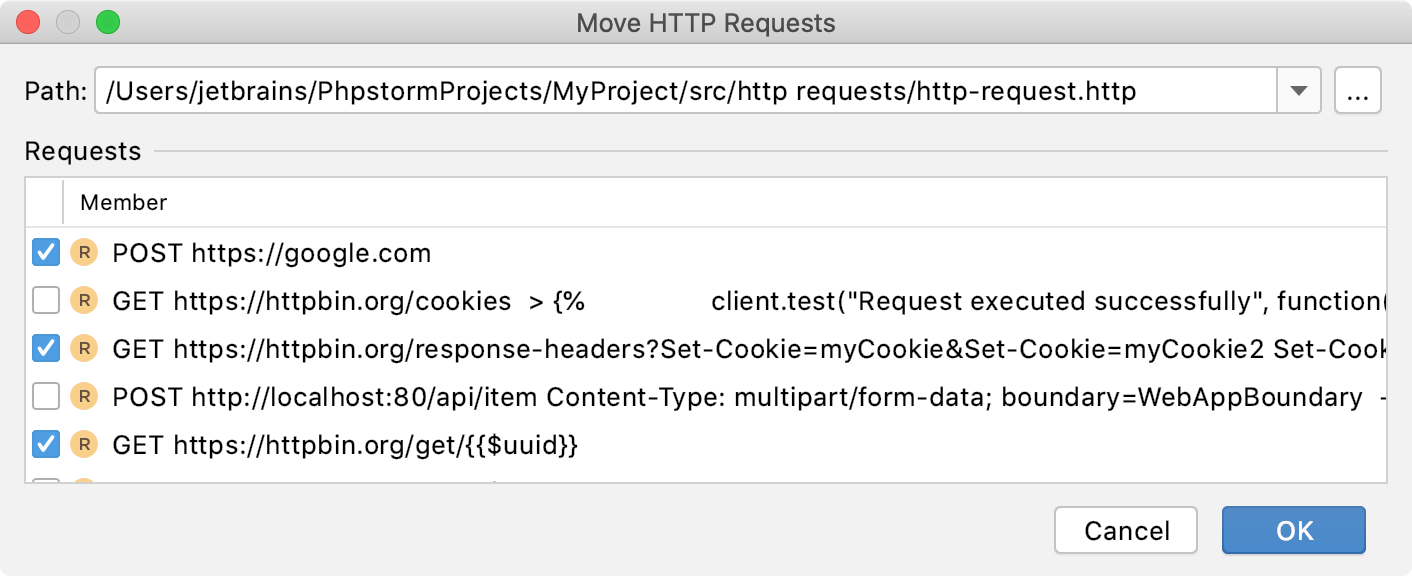 Move HTTP requests