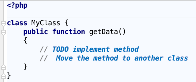 Multiline TODO comments example