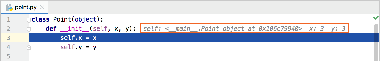 Inline values at start
