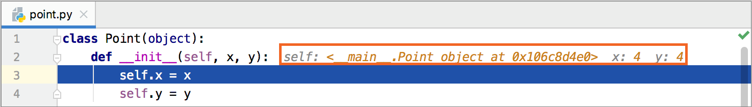 Inline values have change their colors as iteration completed