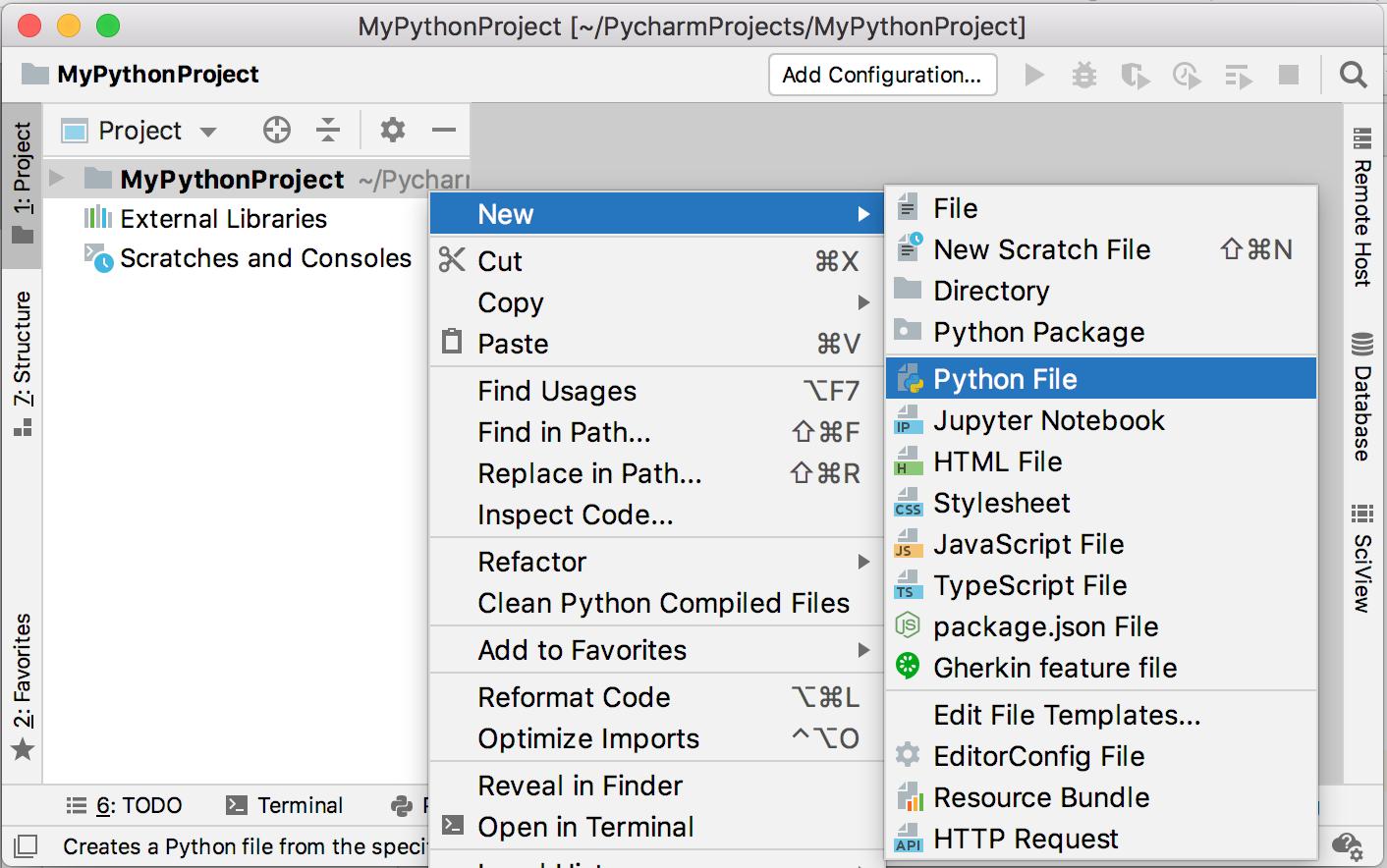 Create a Python file