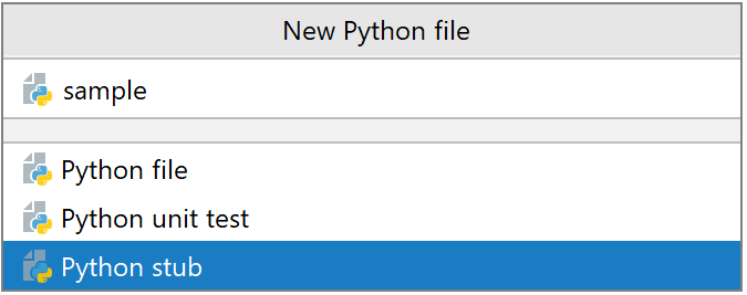 New stub file