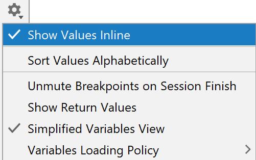 Show values inline