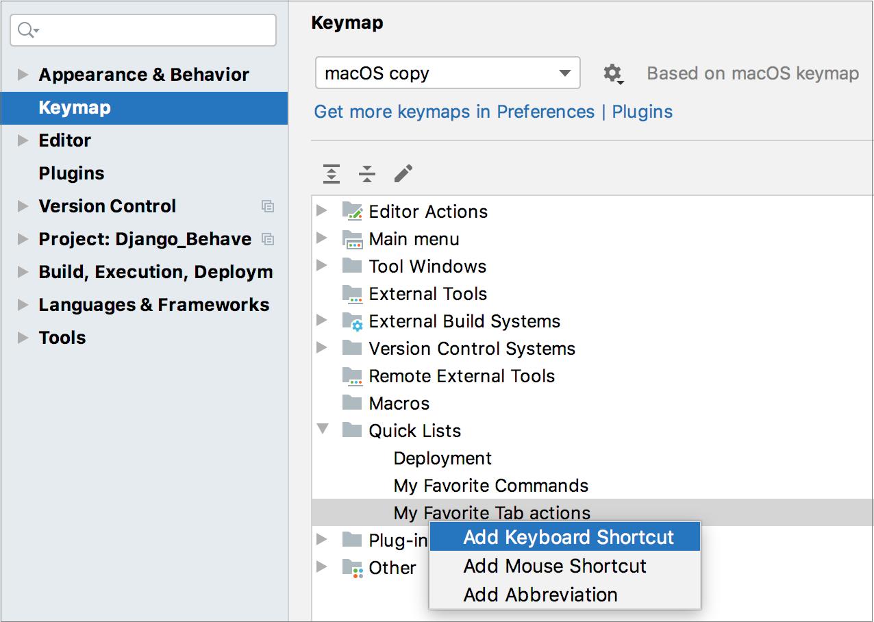 Add a shortcut to a quicklist