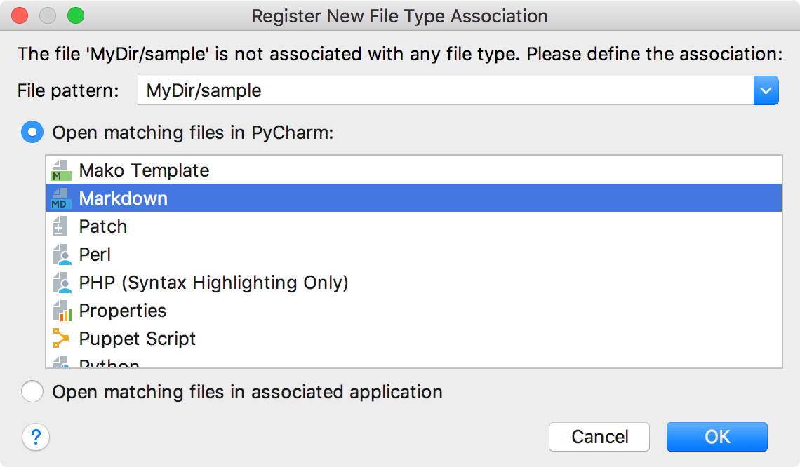 Register a file type