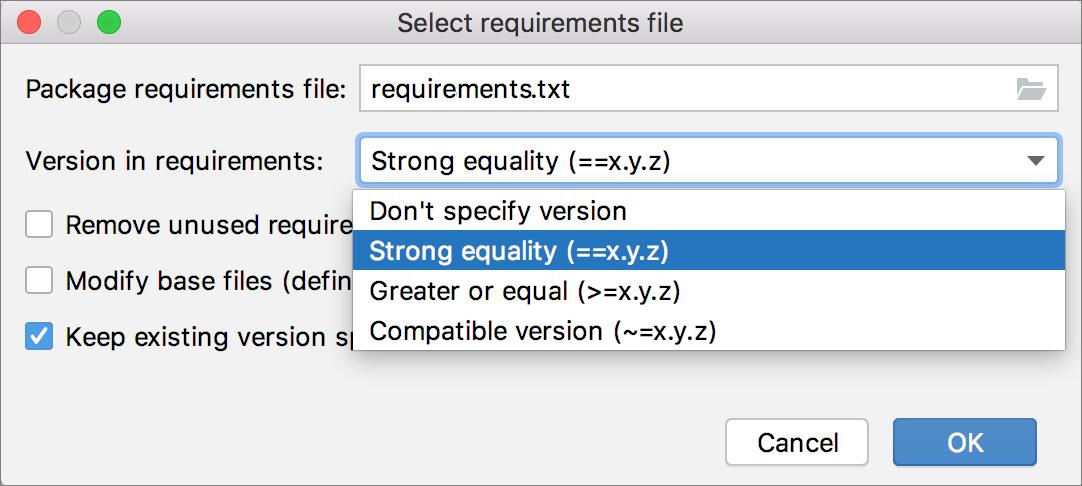 Define requirements.txt