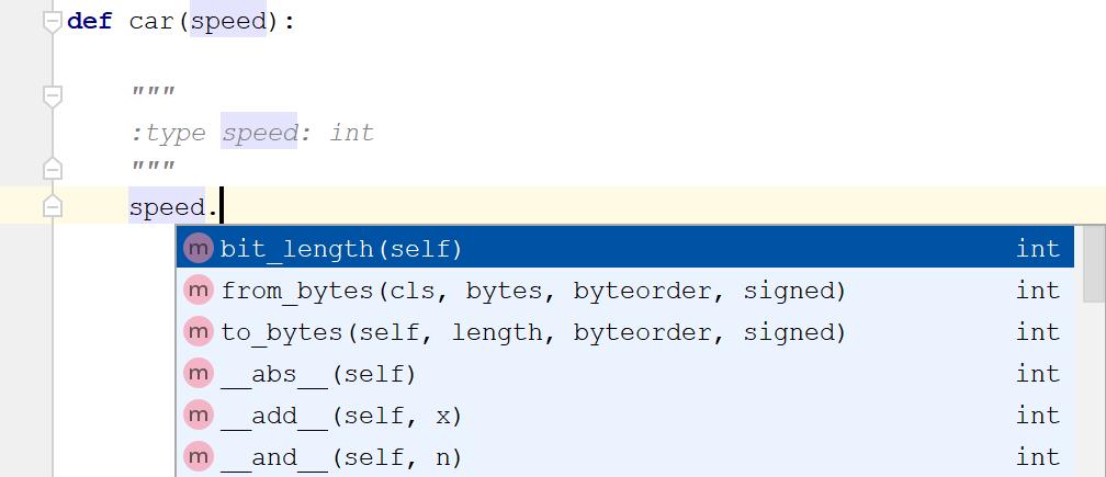 Using docstrings to define parameter type(:type)