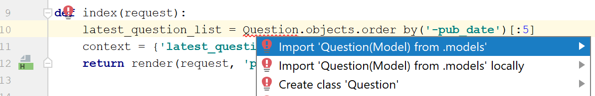choose a class to import