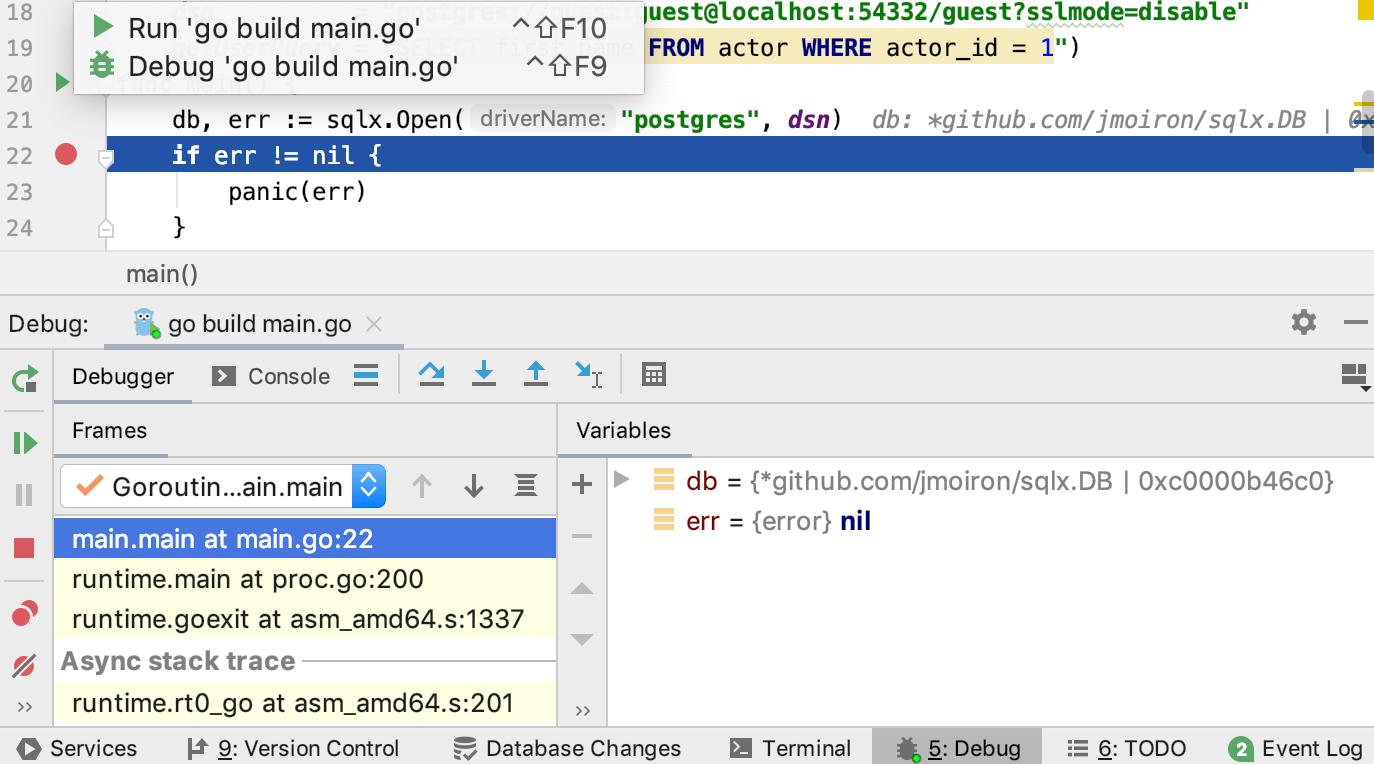 Debug your code