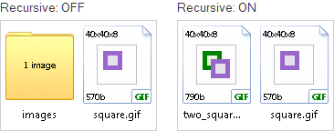 recursive on off png