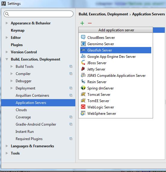 rest ws glassfish configure app server step 1