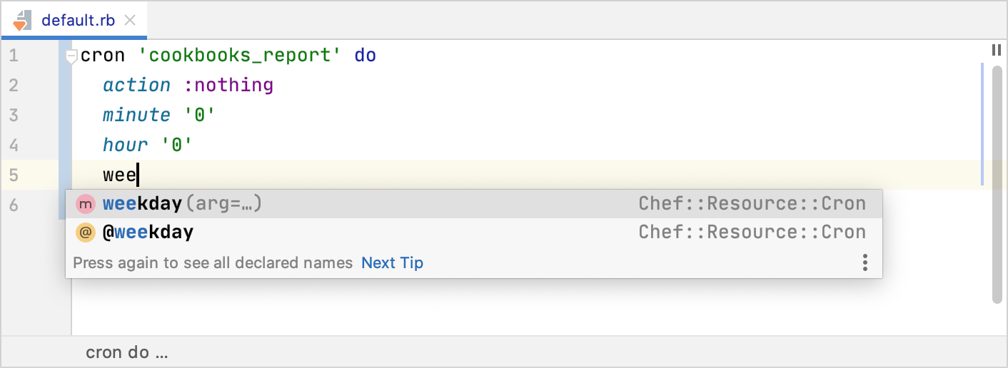 Chef completion