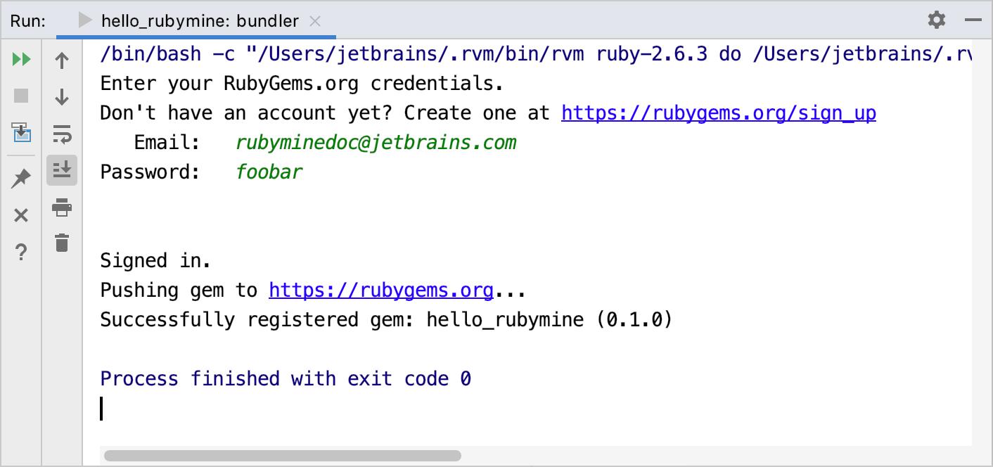 Push gem to RubyGems