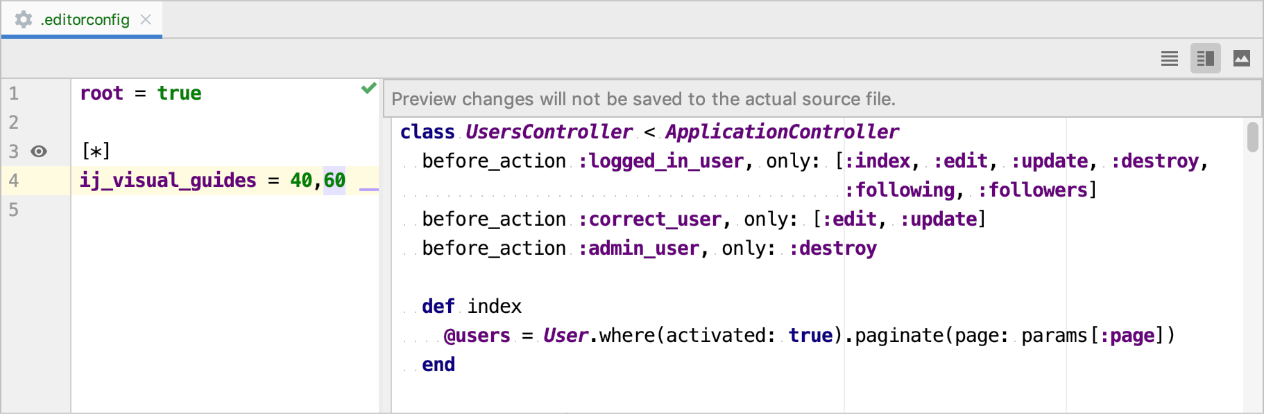 editorconfig preview