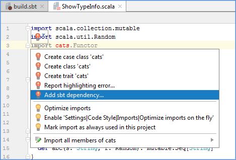 sbt add dependency via import