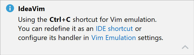Shortcut notification