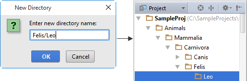 New Directory dialog