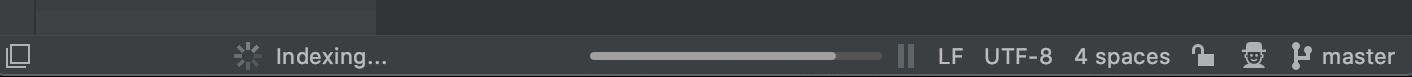 Indexing is in progress