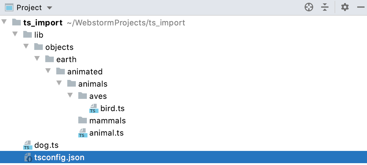 TypeScript: sample project structure