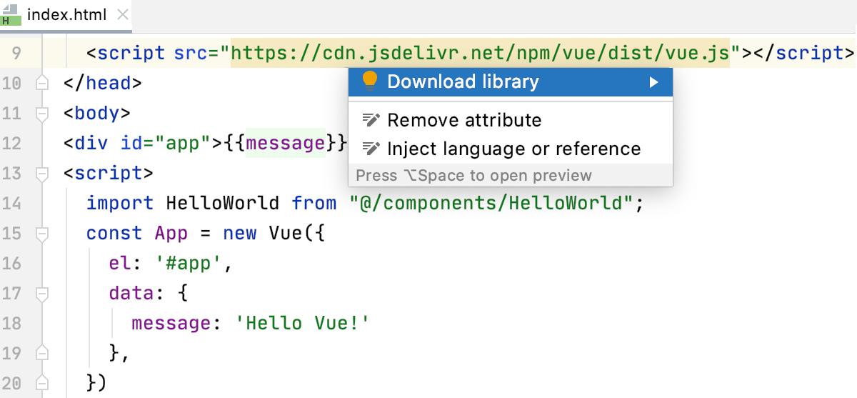 Download libraries linked via CDN