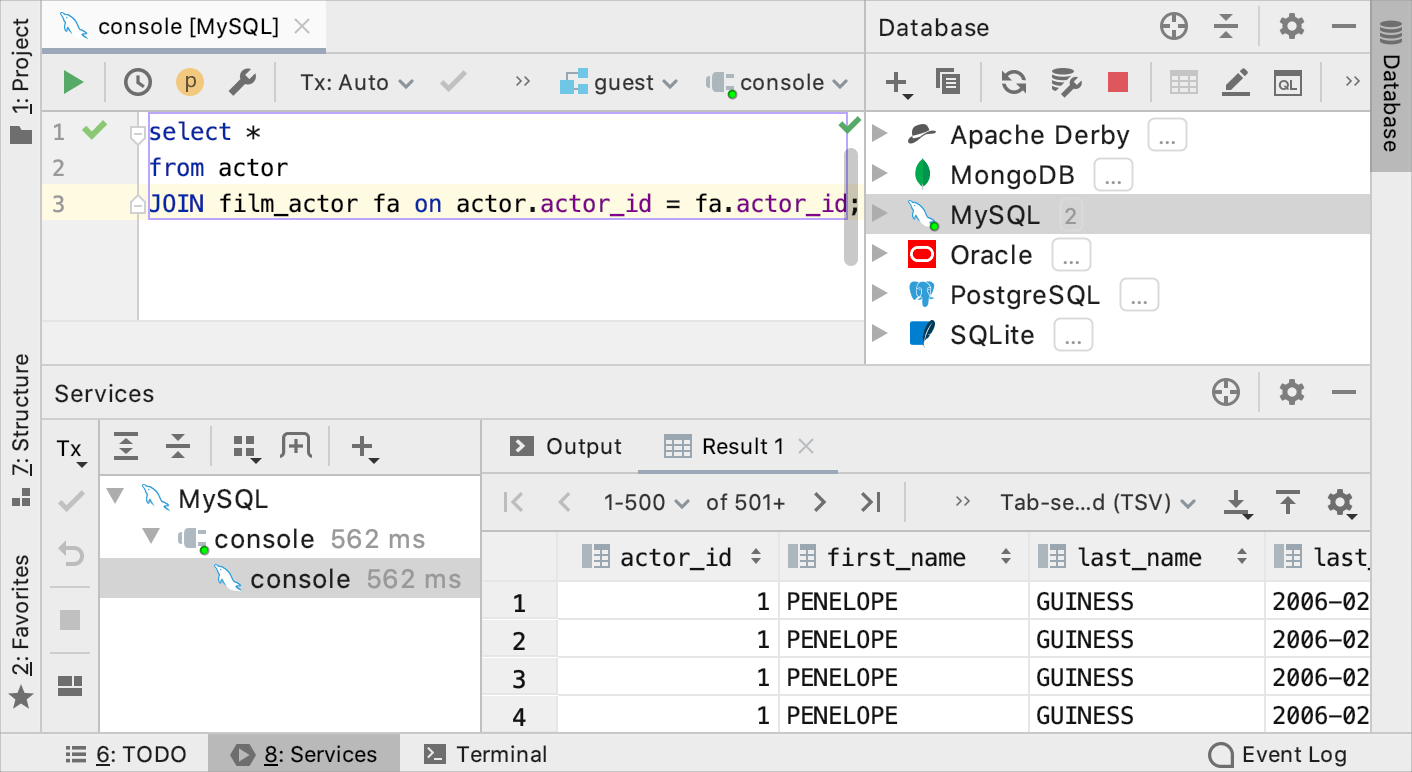 Data editor with tool windows