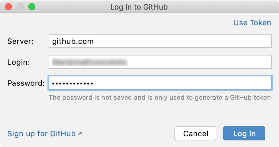 Log in to GitHub
