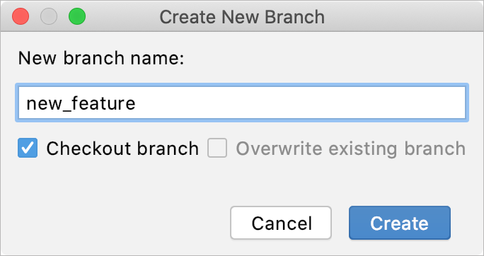 New Git branch